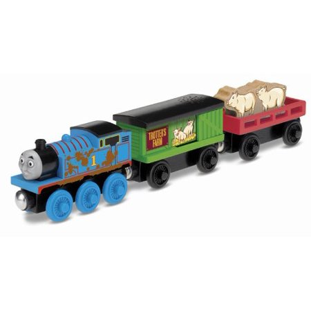 Fisher-Price Thomas the Train Wooden Railway Thomas' Pig Pick-Up, Inspired by the Thomas and Friends tent pole episode; Flash, Bang, Wallop By FisherPrice - Thomas The Train And Friends
