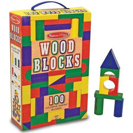 Playskool 80 Piece Wooden Building Blocks Brickseek