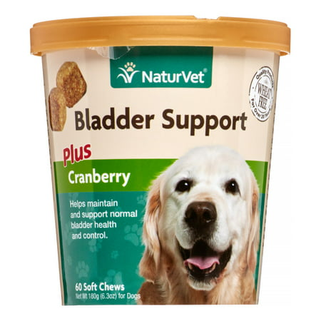 NaturVet Bladder Support Plus Cranberry for Dogs, 60 Soft Chews
