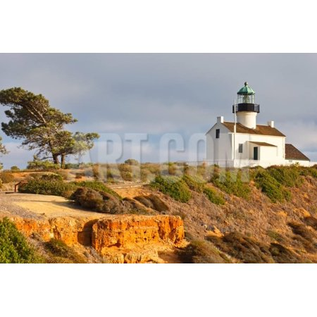 Point Loma Lighthouse in Cabrillo National Park, San Diego Print Wall Art By