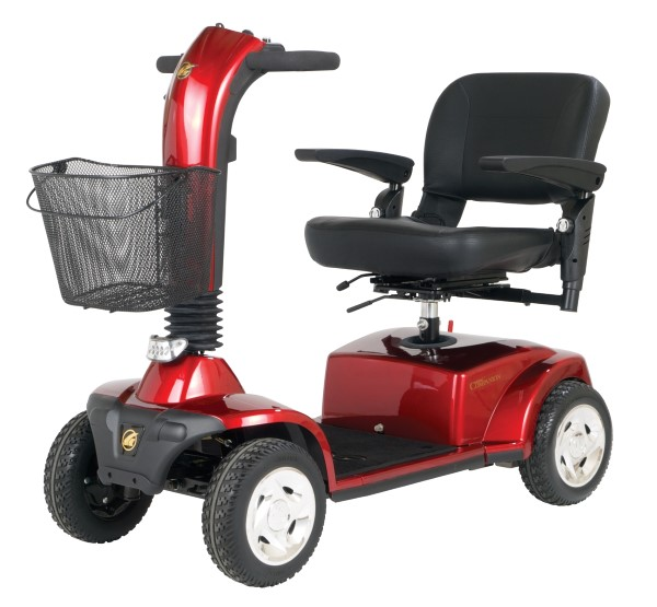 Golden Companion 4 Wheel Scooter Weight Capacity 350lbs-Red