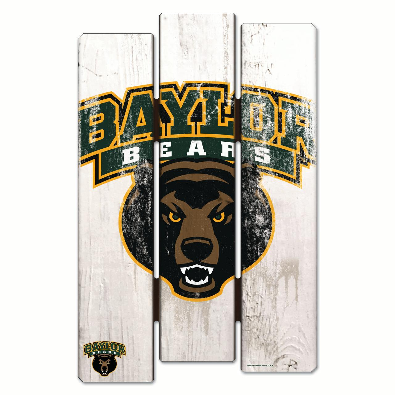 "Baylor Bears Official NCAA 11"" x 17"" Sign 11x17 Wood by Wincraft 199621"
