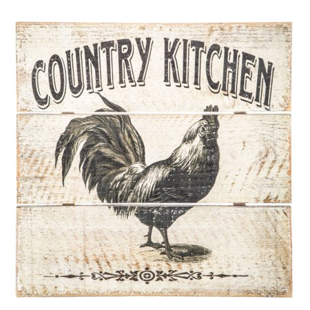 Wood Wall Decorations (Country Kitchen Rooster Wood Wall Decoration Home And Farm)