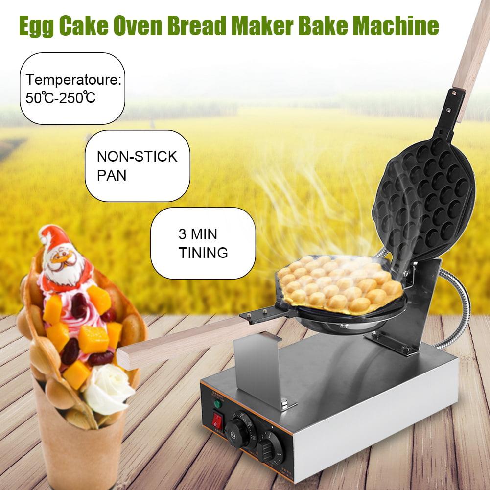 WALFRONT Stainless Steel Electric Egg Cake Oven Puff Bread Maker Bake Machine 110V US Plug,Egg Cake, Egg Cake Maker