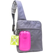 Bracketron Smart Sling Bag, Pink and Grey