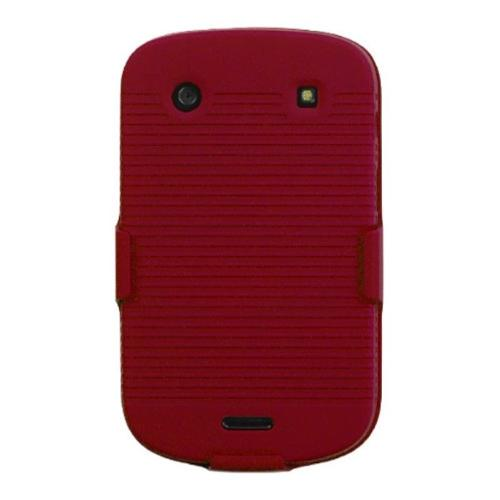 Insten Rubberized Red Hybrid Rugged Hard Shockproof Holster Case For BLACKBERRY 9930 Bold 9900 Bold