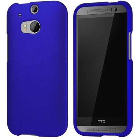 Royal Blue Rubberized Hard Case Protex Cover For Htc One