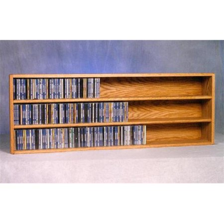 Wood Shed 303-4 Solid Oak Wall or Shelf Mount CD Cabinet