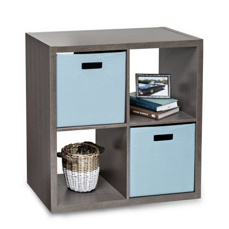 Honey Can Do Premium Laminate Storage Cube with 4 Cubes, Weathered -