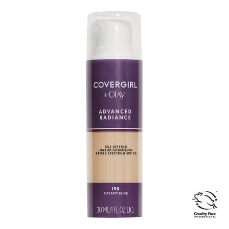 COVERGIRL Advanced Radiance Age-Defying Liquid Foundation, 150 Creamy Beige (Sonnenbrille Beige)