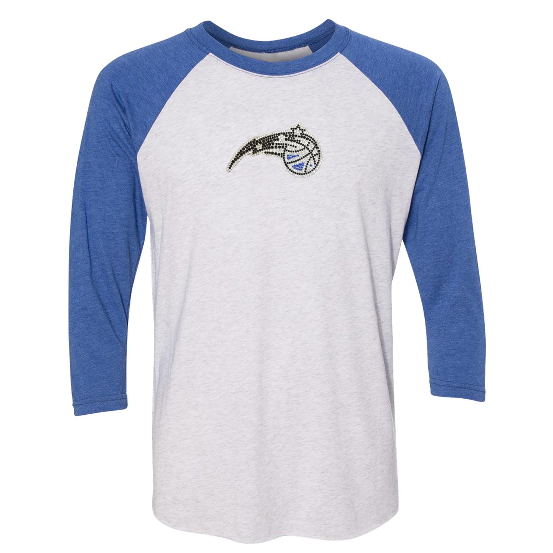 Orlando Magic Women's Rhinestone Raglan 3/4-Sleeve T-Shirt - White