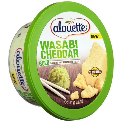 Alouette Wasabi Cheddar Bold Soft Spreadable Cheese, 6 oz