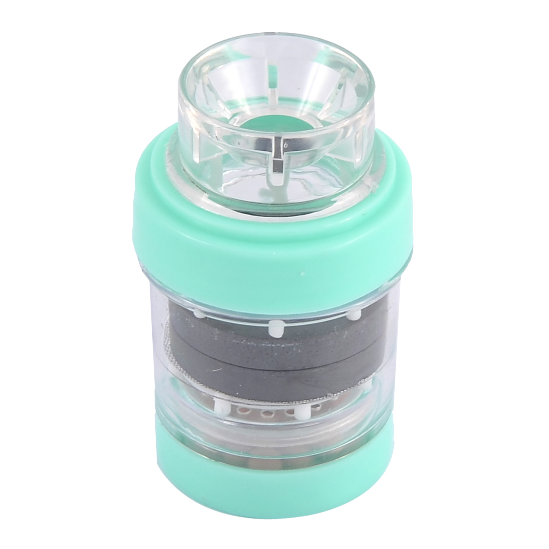 Plastic Tap Home Water Purifying Faucet Magnetic Filter Sky Blue 1.2 Inch Dia - image 3 de 3