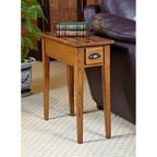 Hardwood 10 inch chairside end table in medium oak for 10 spring street hinsdale side table