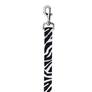 East Side Collection Animal Print Dog Leash - Zebra 4'