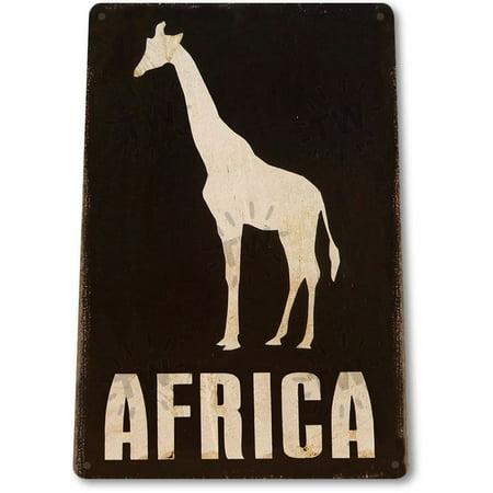 TIN SIGN B311 Africa Safari Giraffe Zoo Rustic Metal Decor, By Tinworld](Safari Decor)