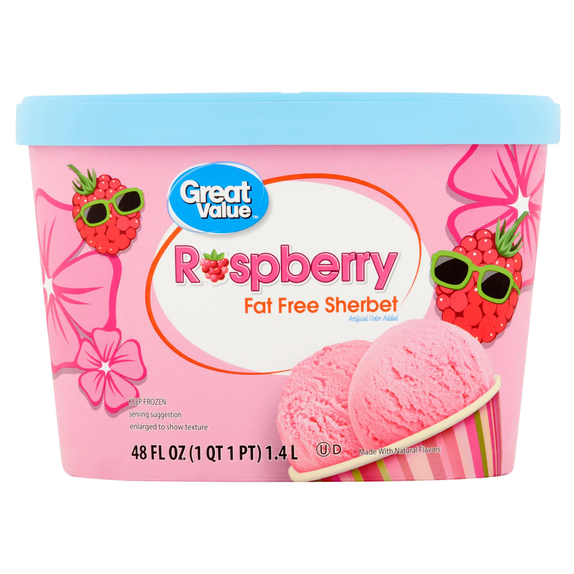 Great Value Raspberry Sherbet, 48 oz