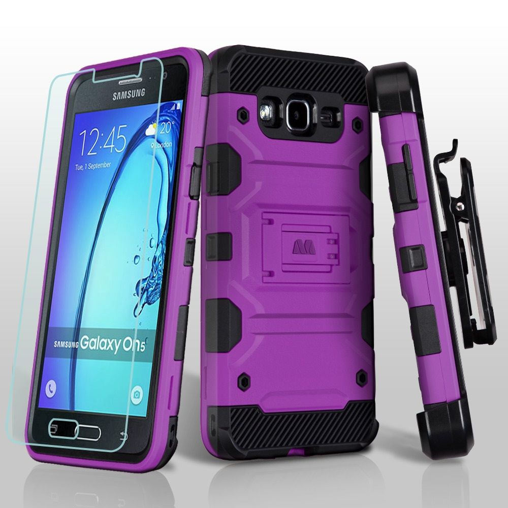 Samsung Galaxy On5 Case Phone By Insten 3 In 1 Storm Tank Hybrid Stand PC TPU Holster Combo For