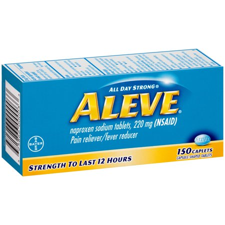 Image of Aleve Caplets with Naproxen Sodium, 220mg (NSAID) Pain Reliever/Fever Reducer, 150 Count