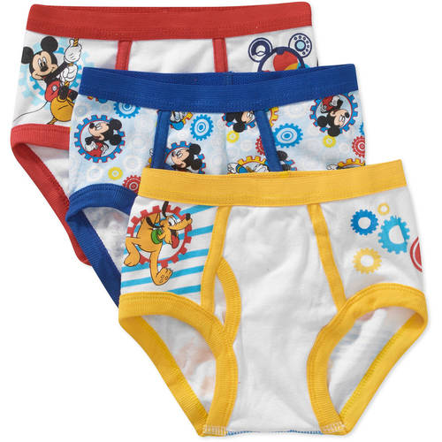 Mickey Mouse Toddler Boys Underwear, 3 Pack