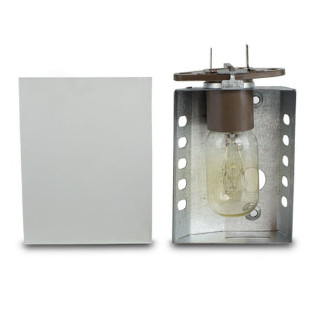 Replacement Light Covers - Ronco Showtime Rotisserie 3000 Light Assembly Replacement With Glass Cover
