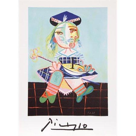 Pablo Picasso 14566 La Fille De Lartiste E Deux Ans Et Demi Avec Un Bateau  44  Lithograph On Paper 29 In  X 22 In    Red  44  Green  44  Blue  44  Black