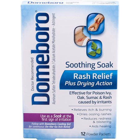 Soothing Soak Rash Relief Plus Drying Action Powder Packets, 12 Count, for Rash Relief from Poison Ivy, Poison Oak, and More (Packaging May Vary)