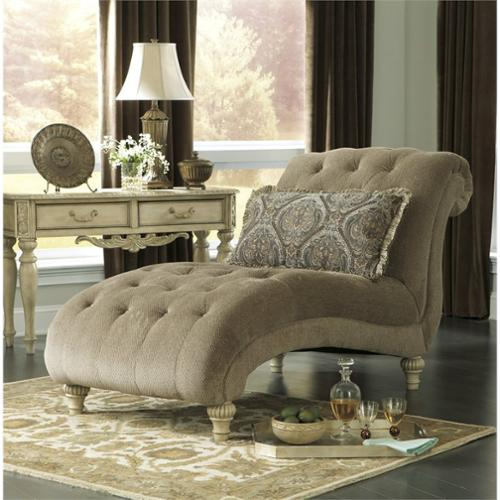 Ashley Parkington Bay Chenille Chaise Lounge in Platinum : chenille chaise lounge - Sectionals, Sofas & Couches