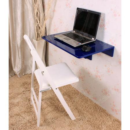 Haotian Wall Mounted Drop Leaf Table Folding Kitchen Dining Desk Children 60cm 23 6in X40cm 15 7in Black Fwt03 B