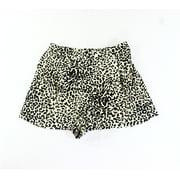 ASTR NEW Beige Size Medium M Junior Animal-Print Dress Shorts