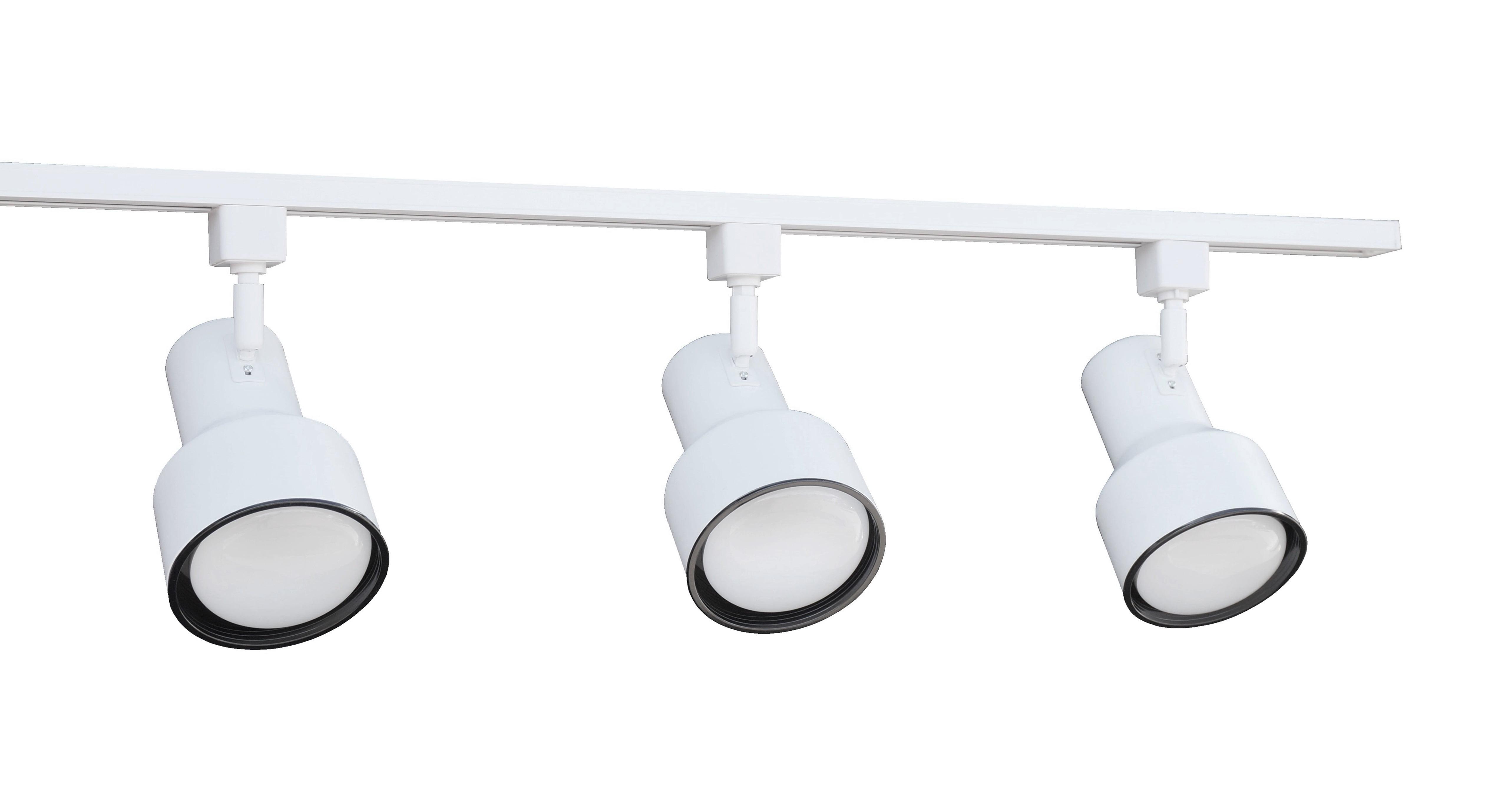 NICOR Lighting 4 Ft. 3-Light 75-Watt Linear Track Lighting Kit, White (10997WH) by NICOR Lighting