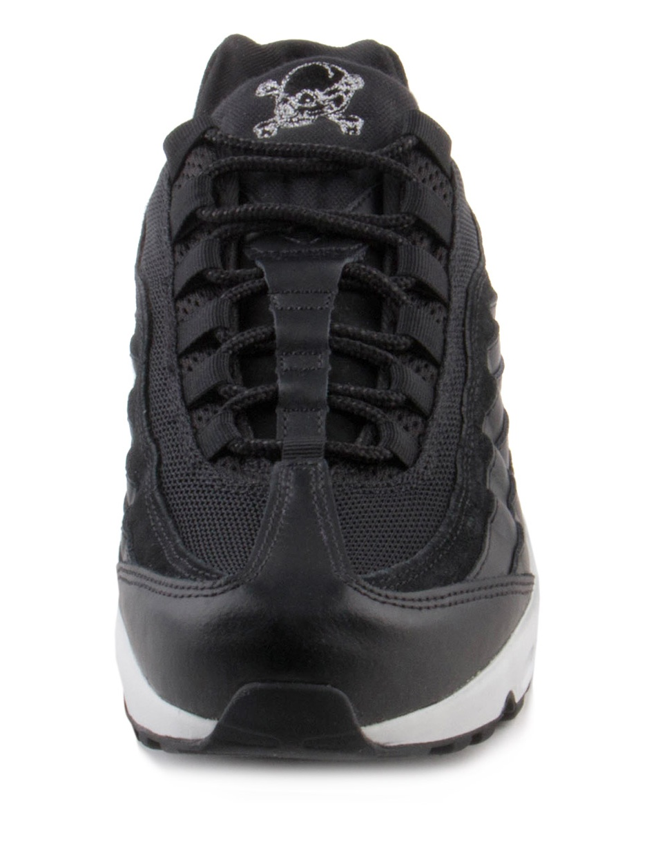 Mens Nike Air Max 95 Premium Rebel Skulls Black Chrome Off White 53841