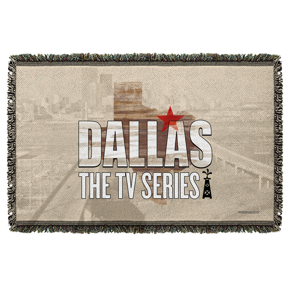 Dallas Logo Woven Throw White 48X80