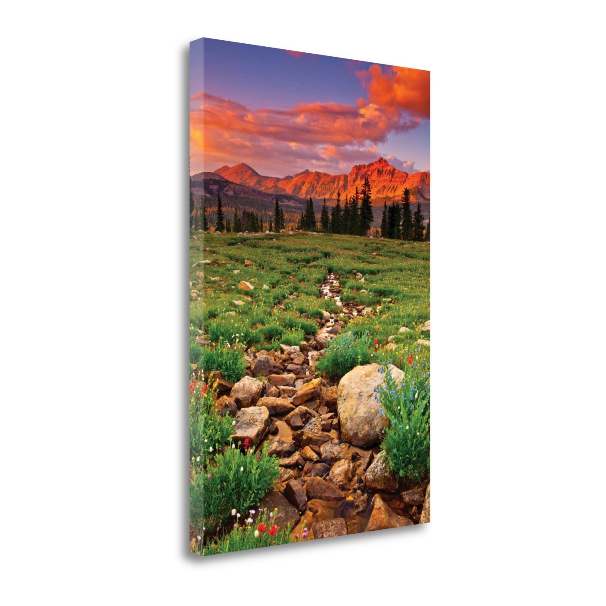"Uinta Sunset By Gary Crandall, 18"" x 27"" Fine Art Giclee Print on Gallery Wrap Canvas, Ready to Hang"