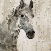 """""""Glaeta Horse"""" Painting Print on Wrapped Canvas by Parvez Michel Inc."""