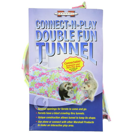 Marshall Double Fun Ferret Tunnel, Connect with the FP-005, FP-198, FT-275 and 2 of the FT-332, by Marshall Pet Products