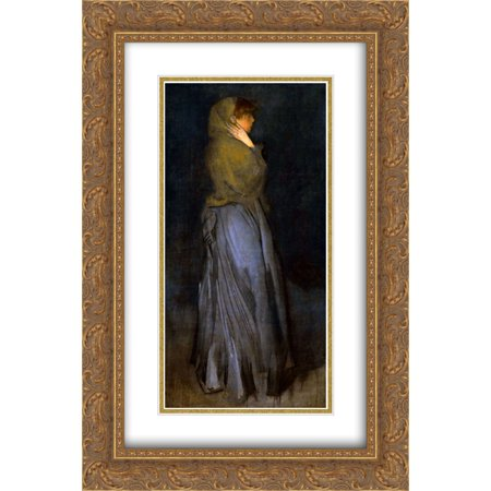 - James McNeill Whistler 2x Matted 16x24 Gold Ornate Framed Art Print 'Arrangement in Yellow and Grey'