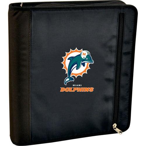 Turner Licensing 3-Ring Zipper Binder, Miami Dolphins