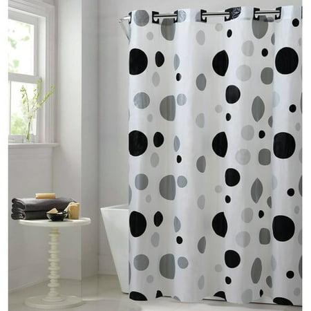Hookless Dot Vinyl Single Shower Curtain