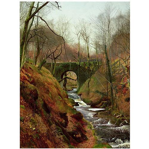 "Trademark Art ""March Morning"" Canvas Art by John Grimshaw"