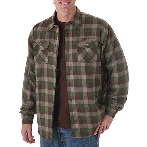 Wrangler Big Mens Heavyweight Lined Woven Shirt