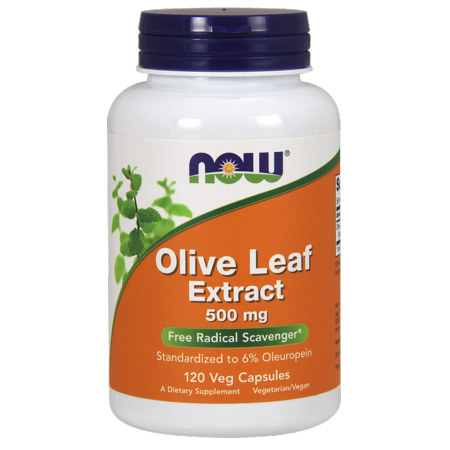 NOW Olive Leaf Extract 500 mg Vegetable Capsules, 120 Ct