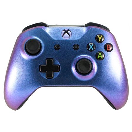 Xbox One Modded Custom Rapid Fire Controller Chameleon With White LED X Purple / Blue (Xbox Modded Controller Purple)