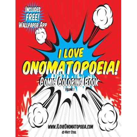 Comic Coloring Book : I Love Onomatopoeia! - I Love Halloween Comics