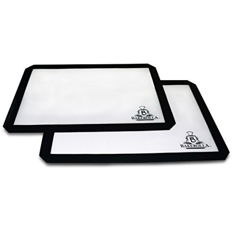 Bakerolla Premium Silicone Baking Mat for Cookies and Pas...