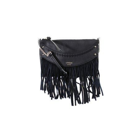 Guess Black Solene Top Zip Fringed Crossbody Bag Os f38cd51516a