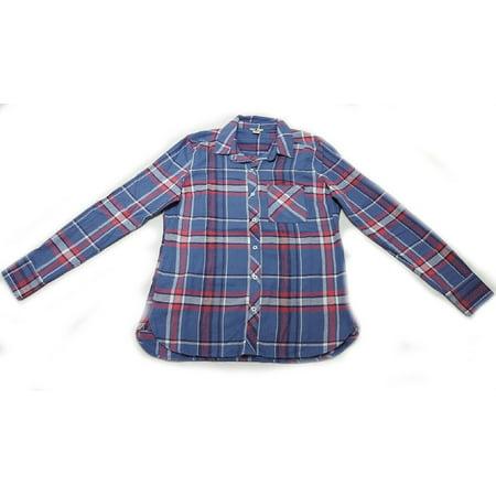 Woolrich Flannel Shirt (Woolrich Womens Long Sleeve Hi-Low Hem Flannel Shirt, Blue Skies,)
