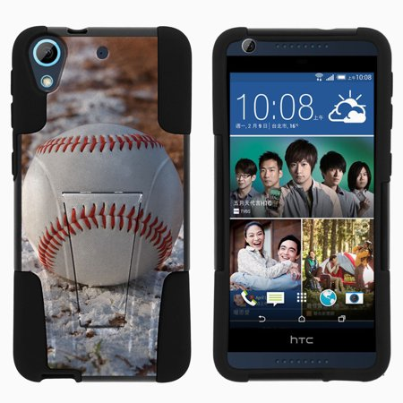 - HTC Desire 626 STRIKE IMPACT Dual Layer Shock Absorbing Case with Built-In Kickstand - Baseball on Chalk