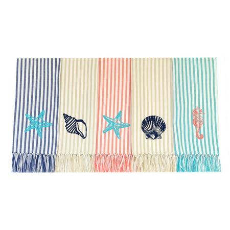 Homewear Coastal Stripe, 5 Piece, Kitchen Towel Set