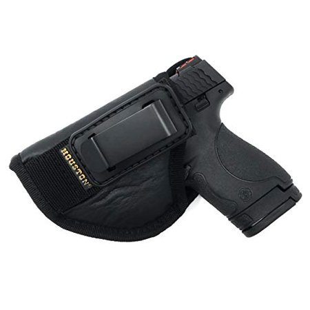 IWB TUCKABLE Gun Holster by Houston - ECO Leather Concealed Carry Soft Material | Fits Glock 26/27/33, Shield, XDS, Taurus 709, Taurus Pro C, Walther P22, Beretta Nano, SCCY Sky.Ruger LC9